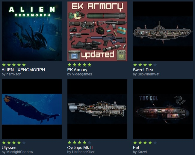 Barotrauma's all-time top workshop mods